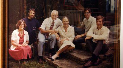 Sam Walton e sua família, proprietários do Walmart