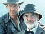 Harrinson Ford y Sean Connery, en la película 'Indiana Jones y la última cruzada' de Spielberg.