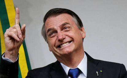 Bolsonaro, no dia 10 de julho em Brasília.
