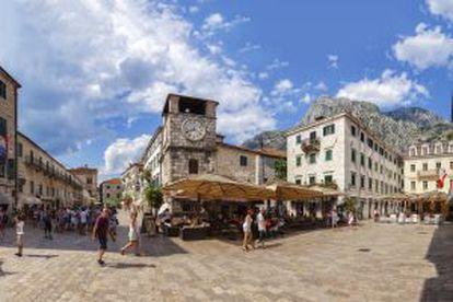 O centro histórico de Kotor, em Montenegro.