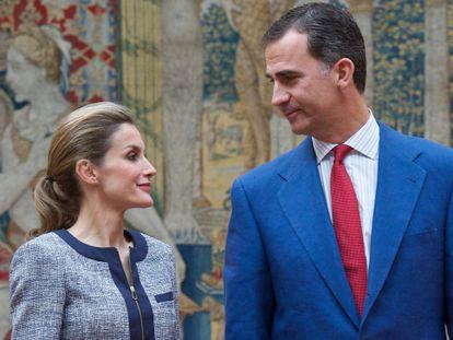Os reis da Espanha, nesta terça, em um ato oficial.