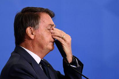 O presidente Jair Bolsonaro participa de cerimônia no Palácio do Planalto, em Brasília, nesta quarta-feira, 11 de agosto.