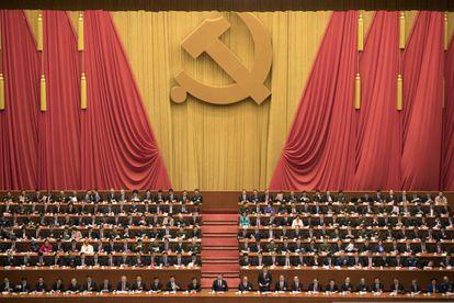O presidente Xi Jinping durante a inauguração do Congresso do Partido Comunista Chinês.