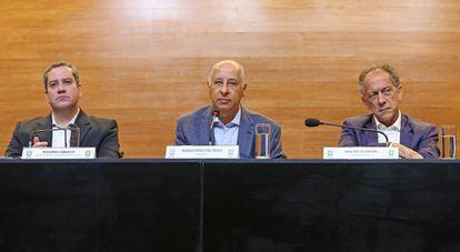 Caboclo (esq.), Del Nero e Feldman, da CBF.