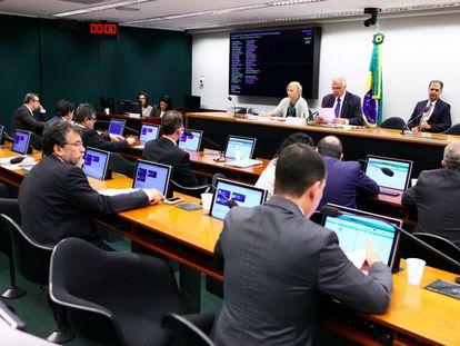 A reunião do Conselho de Ética desta terça-feira contou com poucos parlamentares.