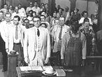 Fotograma de la película Matar un ruiseñor (1961), inspirada en la novela homónima de Harper Lee.