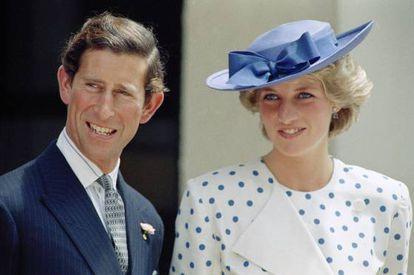 Charles e Diana em 1985.
