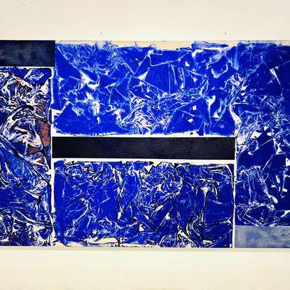 Obra em monotipia e pintura de Carlos Vergara, produzida durante a quarentena, em 2020.