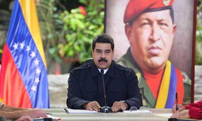 Nicolás Maduro em ato de Governo nesta terça-feira.