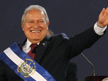 Sánchez Cerén na cerimônia de posse, neste domingo.