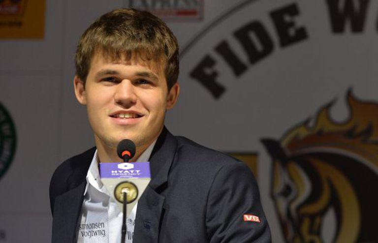 O jogador de xadrez Magnus Carlsen.