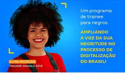 Magazine Luiza promove seleção de trainees exclusiva a candidatos negros.