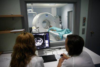 Scanner na seção de medicina nuclear do Hospital Provincial de Castellón.