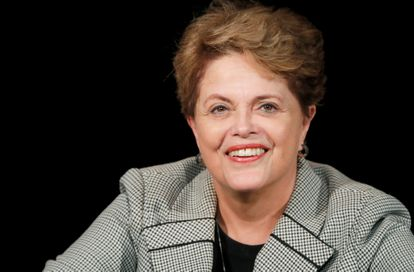 A ex-presidenta Dilma Rousseff, em um evento em Paris em março deste ano.