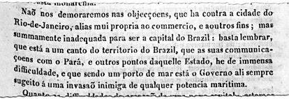Em 1813, o Correio Braziliense insta o príncipe regente dom João a transferir a capital para o interior do Brasil (imagem: Correio Braziliense/Biblioteca Nacional Digital) Fonte: Agência Senado