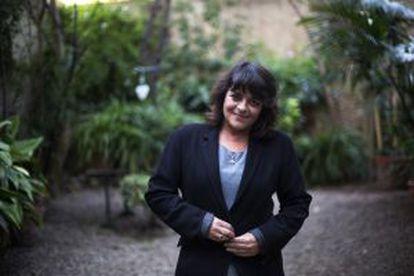 A escritora Giovanna Valls na sua casa, em Barcelona.