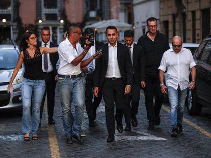Luigi Di Maio, nesta sexta-feira, rumo ao palácio Chigi em Roma.