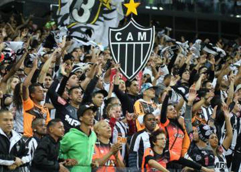 Torcida atleticana no Mineirão, palco do jogo deste sábado.
