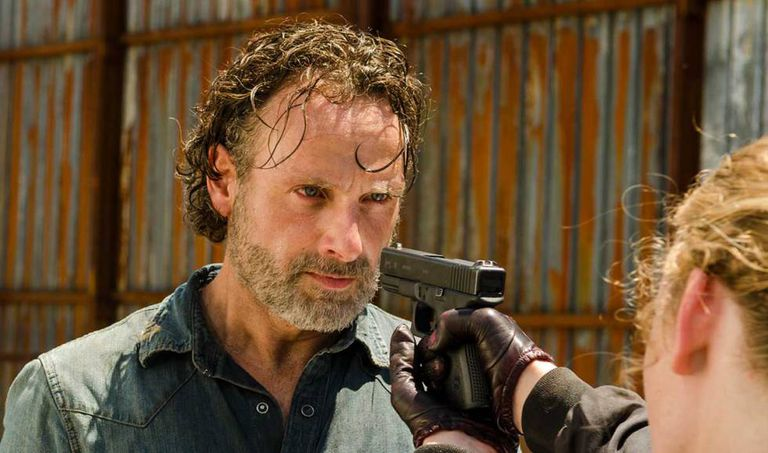 Andrew Lincoln, como o xerife Rick Grimes, em 'The Walking Dead'