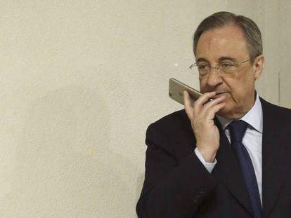 O presidente do Real Madrid, Florentino Pérez.