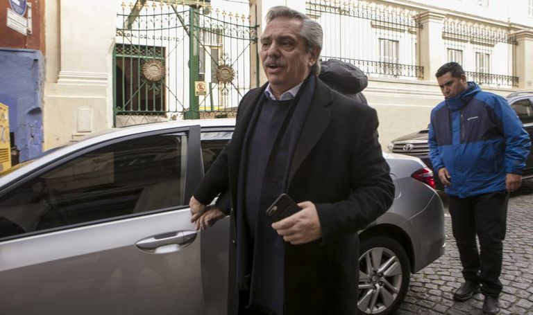 O candidato presidencial Alberto Fernández, em Buenos Aires.