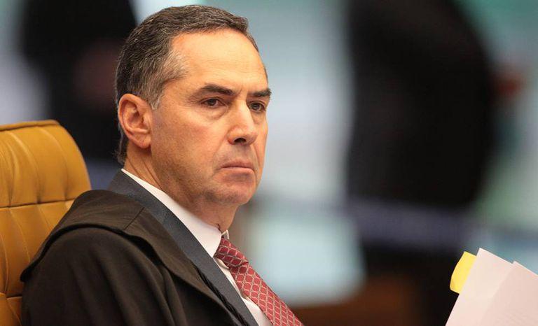 O ministro Barroso, em sessão no STF.