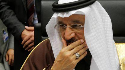 O ministro de Energia da Arábia Saudita durante reunião da OPEP.