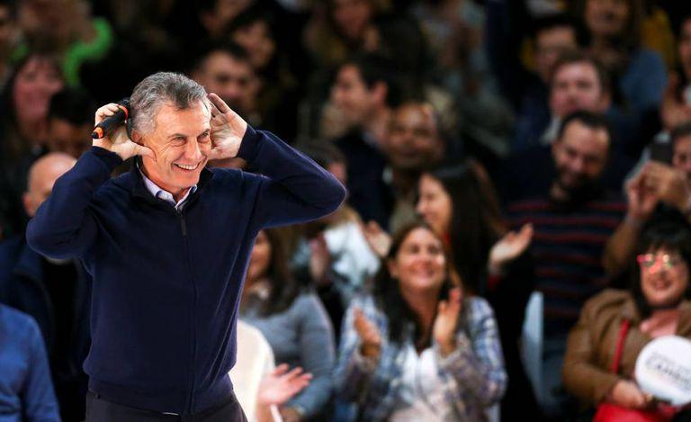 Mauricio Macri, na última segunda-feira, durante um comício em Buenos Aires.