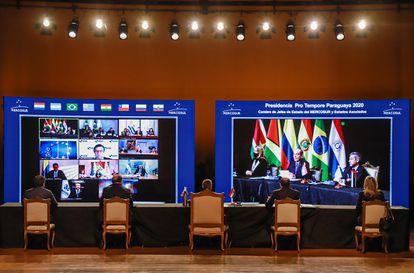 Reunião virtual da Cúpula do Mercosul nesta quinta-feira.