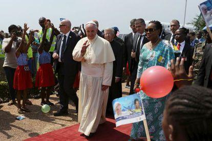 Chegada do Papa à capital Centro-Africana Bangui no domingo.