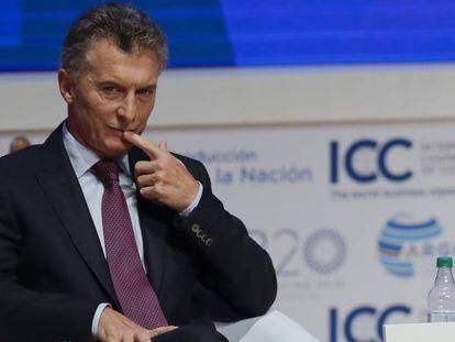 Presidente argentino Maurício Macri.