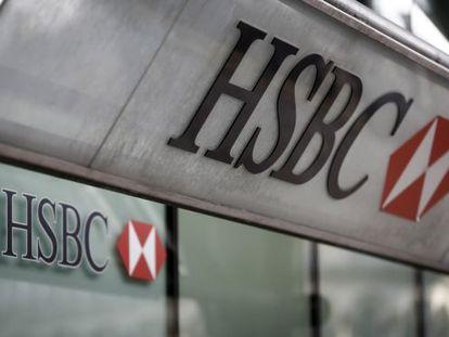 Agência da HSBC em Londres.