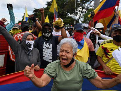 Protesto em Cali, na Colômbia, no último dia 19.