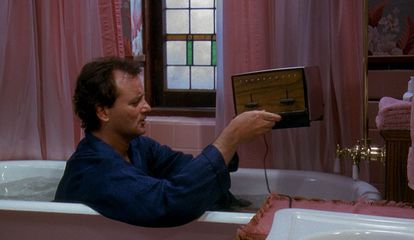 Bill Murray em 'Feitiço do Tempo'.