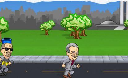 Frame do jogo Fuga do Planalto.