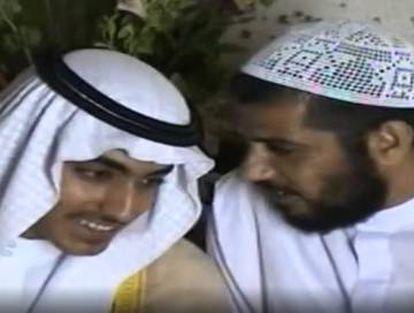 Hamza bin Laden (esquerda), em documentos difundidos pela CIA.