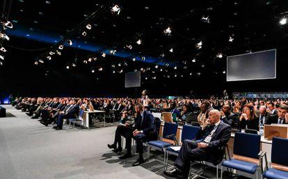 Participantes da cúpula do clima realizada há um ano em Katowice (Polônia), a COP24.