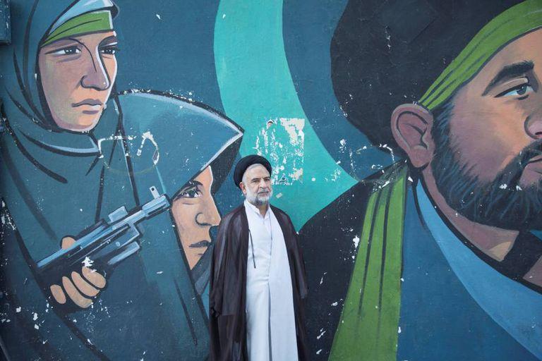 Um clérigo iraniano em Teerã.