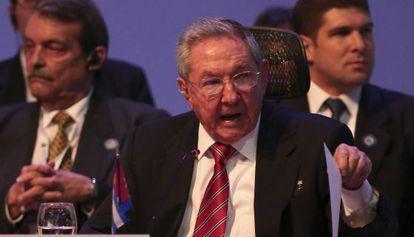 O líder cubano durante a cúpula da CELAC em Costa Rica.