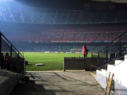 Estádio do Camp Nou, na Catalunha.