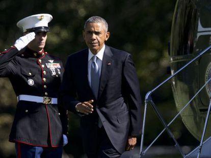 Obama, na quarta-feira no jardim da Casa Branca