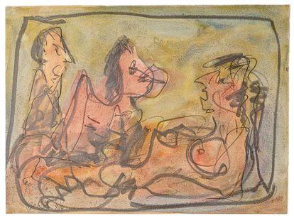 66 desenhos em aquarelas compõem a exposição de Babinski, em São Paulo.