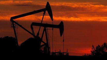 Um poço de petróleo na Colômbia.