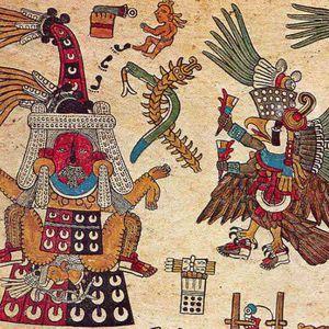 Imagen de un ave guerrera del Códice Borbónico.