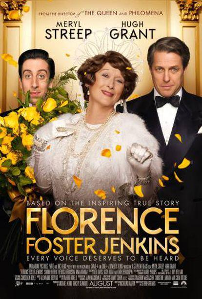 Cartaz do último filme de Meryl Streep, 'Florence Foster Jenkins'.