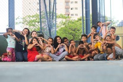 Crianças na Casa do Zezinho antes da pandemia.