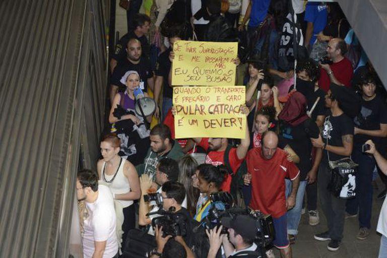 Manifestação promovida pelo MPL no Rio em 2013.
