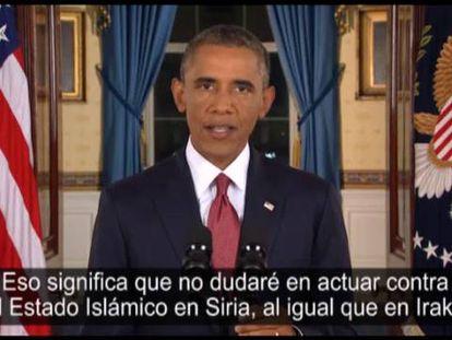 Obama discursa na Casa Branca.