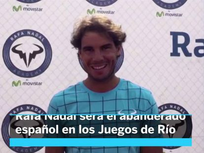 Rafael Nadal será o porta-bandeira espanhol no Rio