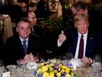 FILE PHOTO: U.S. President Donald Trump hosts a working dinner with Brazilian President Jair Bolsonaro at the Mar-a-Lago resort in Palm Beach, Florida, U.S., March 7, 2020. REUTERS/Tom Brenner/File Photo/File Photo